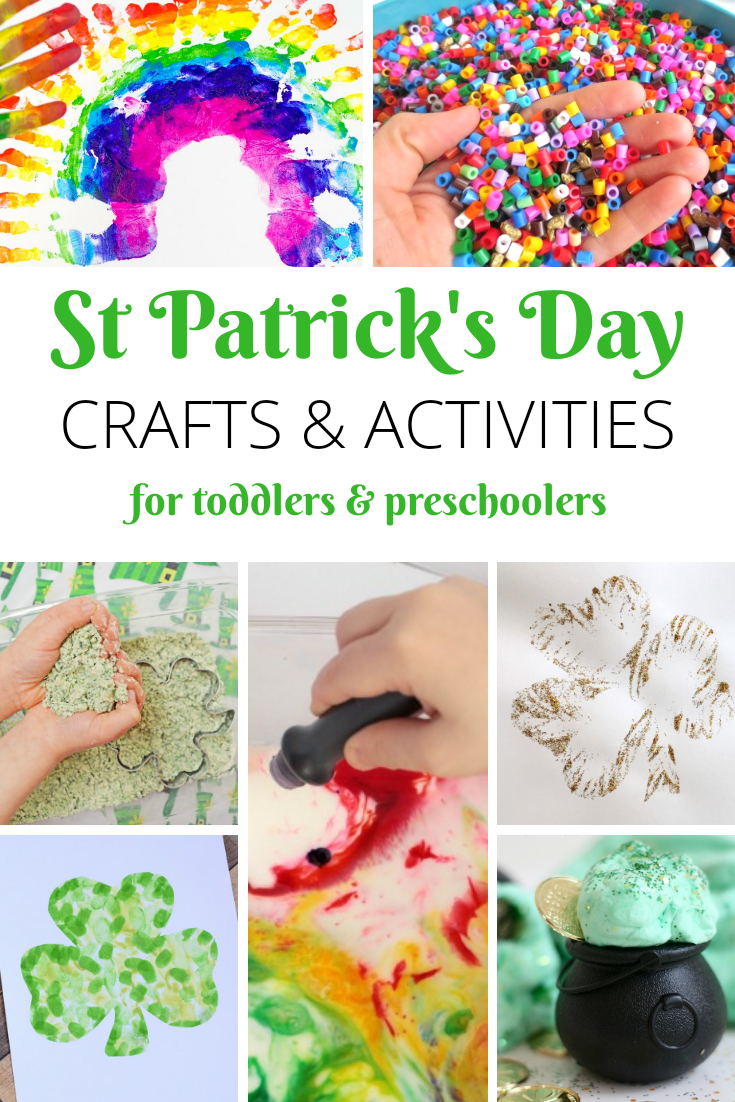 St Patrick's Day Crafts and Activities for toddlers and preschoolers
